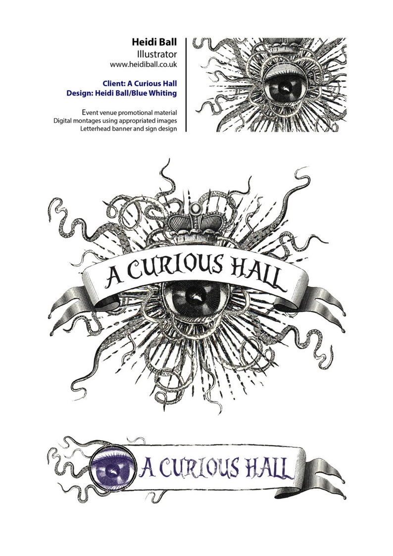 Commissioned design for A Curious Hall, Falmouth
