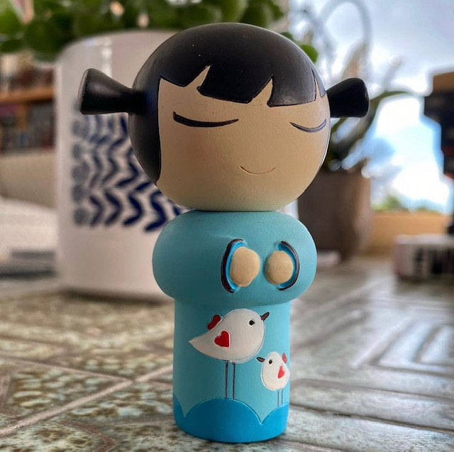 Blue Momiji doll